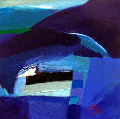 TREBARWITH-STRAND.-Acrylic-on-Canvas.-50-x-50--cm.--2015.