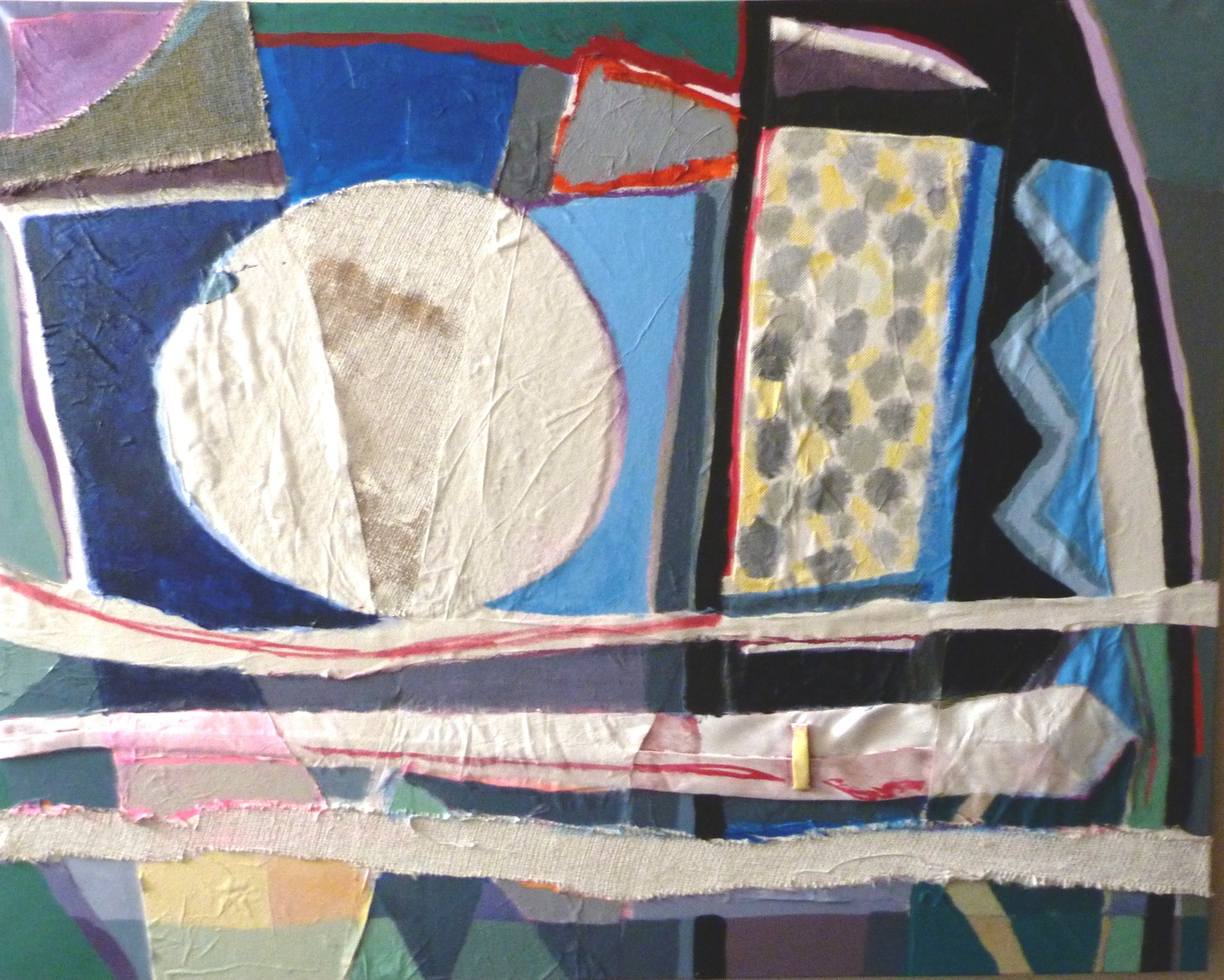 THE-MOON-AND-THE-TIE.-Mixed-Media-on-Canvas.-100-x-80-x-4cm.-2014-